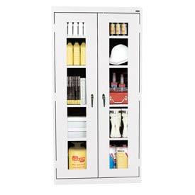 Anti-Microbial Clearview Storage Cabinet 36x24x78 White