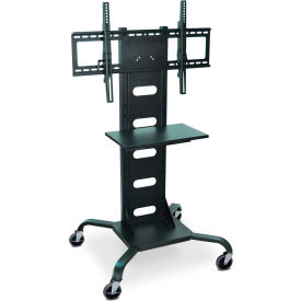 """Mobile Flat Panel Monitor Station with DVD Shelf, 31""""W x 28""""D x 51""""H"""