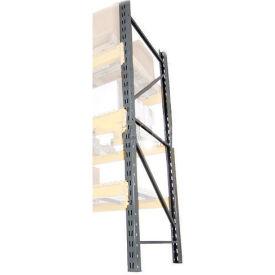 "Husky Rack & Wire LU18360120 Double Slotted Pallet Rack Upright Frame 120""H x 36""D"