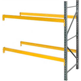 """Husky Rack & Wire L244219260144A Double Slotted Pallet Rack Add-On 144""""W x 42""""D x 192""""H"""