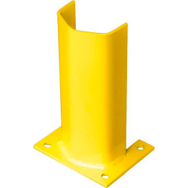 """1/4"""" Thick 12"""" H Steel Post Protector Yellow"""