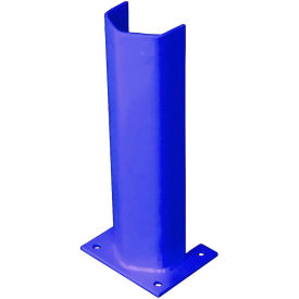 """1/4"""" Thick 18"""" H Steel Post Protector Blue"""