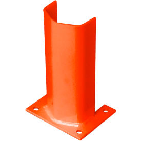 """3/8"""" Thick 12"""" H Steel Post Protector Orange"""