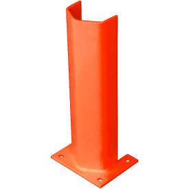"""3/8"""" Thick 18"""" H Steel Post Protector Orange"""
