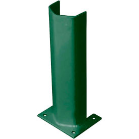 "3/8"" Thick 18"" H Steel Post Protector Green"