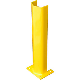 """3/8"""" Thick 24"""" H Steel Post Protector Yellow"""