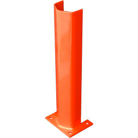 """3/8"""" Thick 24"""" H Steel Post Protector Orange"""