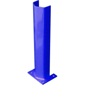 """3/8"""" Thick 24"""" H Steel Post Protector Blue"""
