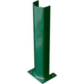"""3/8"""" Thick 24"""" H Steel Post Protector Green"""