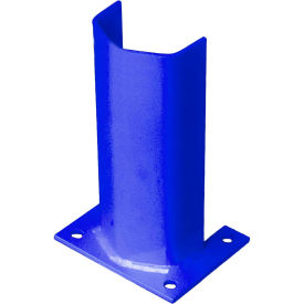 """1/2"""" Thick 12"""" H Steel Post Protector Blue"""