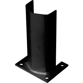 """1/2"""" Thick 12"""" H Steel Post Protector Black"""