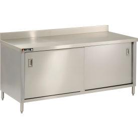 "Aero Manufacturing 4TSSOD-3060 60""W x 30""D Economy Cabinet, 2-3/4"" Backsplash, Sliding Doors"