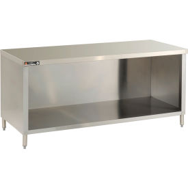 Economy Flat Top Cabinet, Enclosed Based, Galv., 30 x 120