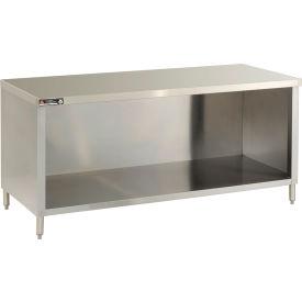 "Aero Manufacturing 4TGO-30120 120""W x 30""D Economy Flat Top Cabinet, Enclosed Base, Galv."