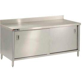 "Aero Manufacturing 2TGSOD-30144 144""W x 30""D Premium Cabinet, w/ Backsplash, Sliding Doors, Galv."