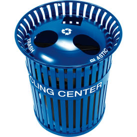 3-in-1 Steel Recycling Center - Blue