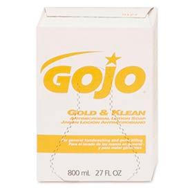 GOJO Antimicrobial Lotion Box Soap 800 mL Refill - 12 Refills/Case 9127 12