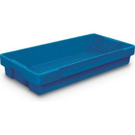 "Plastic Utility Tray Dark Blue 26"" L X 12-1/2"" W X 4-1/2 H - Pkg Qty 5"