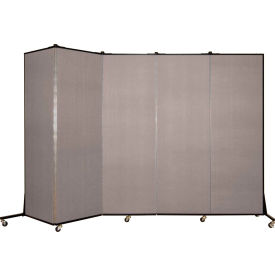 Screenflex 5 Panel Mobile Room Divider - Fabric Color: Light Gray