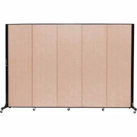 Screenflex 5 Panel Mobile Room Divider - Fabric Color: Tan