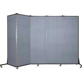Screenflex 5 Panel Mobile Room Divider - Fabric Color: Light Blue