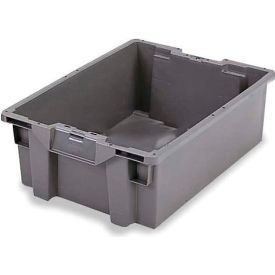 ORBIS Stack-N-Nest Pallet Container GS6040-18 - 23-5/8 x 15-3/4 x 7-1/8 Gray