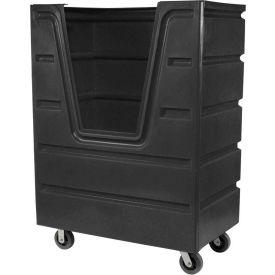 Dandux Black Recycled Plastic Hopper Front Bulk Truck 512560X 58 Cu. Ft. Capacity