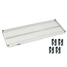 Chrome Wire Shelf 48x18 with Clips