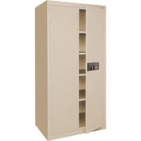 Sandusky Elite Series Keyless Electronic Storage Cabinet EA4E362478 - 36x24x78, Putty