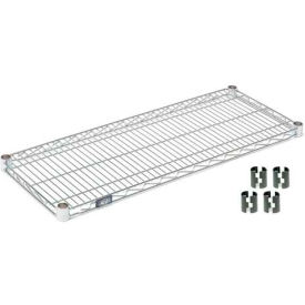 """Nexel S1430C Chrome Wire Shelf 30""""W x 14""""D with Clips"""