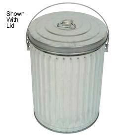 Galvanized Garbage Can - 10 Gallon Medium Duty