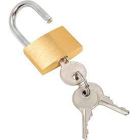 Brass Padlock With 3 Keys