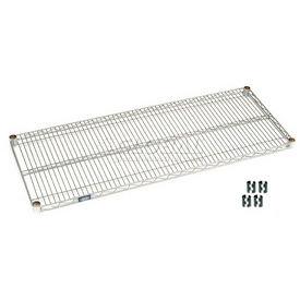 "Nexel S1854S Stainless Steel Wire Shelf 54""W x 18""D with Clips"