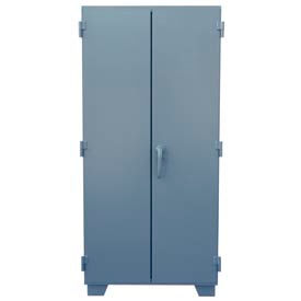 "Jamco Mill Duty Storage Cabinet MJ236 - 12 Gauge 36""W x 24""D x 78""H, 4 Adjustable Shelves Gray"
