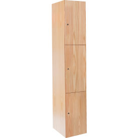 Hallowell Wood Club Locker Double Tier 15x18x36 2 Door Assembled Red Oak