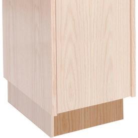 Hallowell WCB128W-RO Wood Club Locker Base 12x18x4 Red Oak