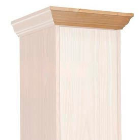 Hallowell WCM15W-RO Wood Club Locker Front Crown Molding 15x4 Red Oak