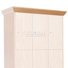Hallowell WCM36W-RO Wood Club Locker Front Crown Molding 36x4 Red Oak