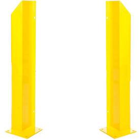 "Heavy Duty Door Track Protector 24"" Pair ( Left & Right) Yellow"
