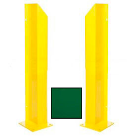 "Heavy Duty Door Track Protector 24"" Pair ( Left & Right) Green"