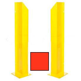 "Heavy Duty Door Track Protector 36"" Pair ( Left & Right) Orange"