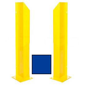 "Heavy Duty Door Track Protector 48"" Pair ( Left & Right) Blue"