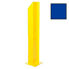 "Heavy Duty Door Track Protector 24"" Right Blue"