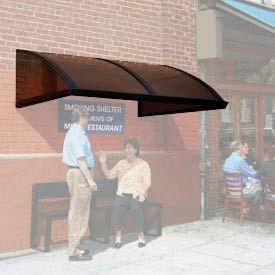 Smoking and Sidewalk Shelter Barrel Roof 19' x 5'