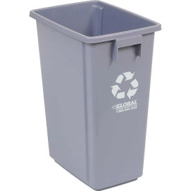 """Global™ Recycling Container - Gray 15 Gallon 12""""W X 18""""D X 24""""H"""