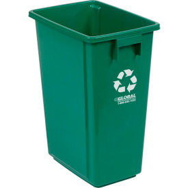"""Global Industrial™ Recycling Container - Green 15 Gallon 12""""W X 18""""D X 24""""H"""