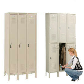 Penco 6319V-1-073SU Vanguard Locker Pull Handle Triple Tier Locker 12x12x24 Assembled 1-W Champagne