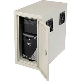 Orbit CPU Side Cabinet with Front/Rear Doors and 2 Exhaust Fans - Beige