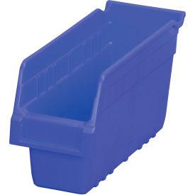 "Akro-Mils ShelfMax® Plastic Shelf Bin Nestable 30040 - 4-1/8""W x 11-5/8""D x 6""H Blue - Pkg Qty 16"