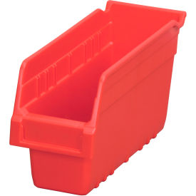 "Akro-Mils ShelfMax® Plastic Shelf Bin Nestable 30040 - 4-1/8""W x 11-5/8""D x 6""H Red - Pkg Qty 16"